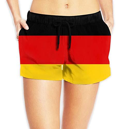 Damen-Badehose mit Flagge Deutschlands Gr. XL , einfarbig