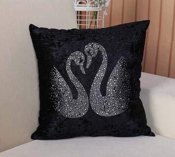 High-grade velvet diamond pillow pillow cushion home decoration sofa cushion car cushion - B