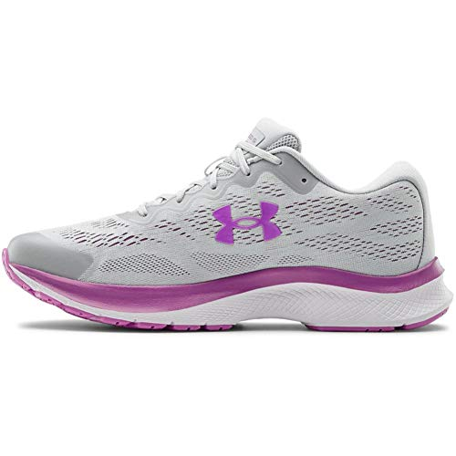 Under Armour Women's Charged Bandit 6 Running Shoe, Halo Gray (101)/White, 10