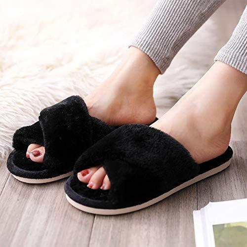Zapatillas De Estar Dormitorio Zapatillas De Mujer, Zapatillas De Algodón con Corazón De Amor para Mujer, Zapatillas De Invierno Antideslizantes para El Suelo, Zapatillas Pelu Entrega Rápida Gratuita