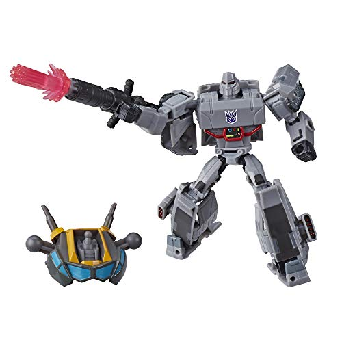Transformers Toys Cyberverse Deluxe Class Megatron Action Figure, Fusion Mega Shot Attack Move and Build-A-Figure Piece, for Kids Ages 6...
