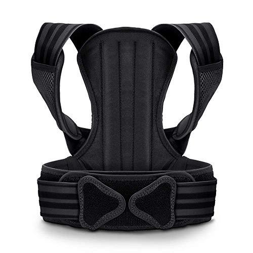 VOKKA Haltungskorrektur für Männer & Frauen - Unterstützung für Wirbelsäule und Rücken - Lindert Nacken-,Rücken- und Schulterschmerzen - Verstellbarer, atmungsaktiver Geradehalter und Rückenbandage XL