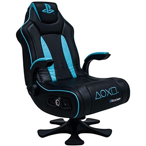 X Rocker Genesis Gaming Chair 2.1 - Silla de Juegos, Color Negro y Azul