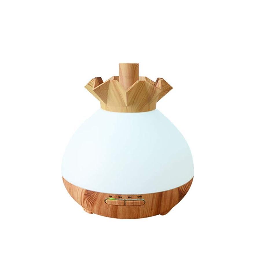 症状大腿意味Wifiアプリコントロール 涼しい霧 加湿器,7 色 木目 空気を浄化 加湿機 プレミアム サイレント 精油 ディフューザー アロマネブライザー ベッド- 400ml
