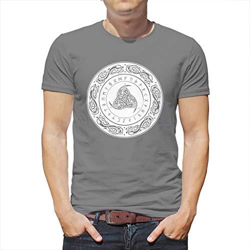 Heren T-shirt Viking Helm de Ehrangcht Draak Scandinavische runen Totem print Fashion Shirts blouse etnisch hoorn van Odin cirkel knopen zomer casual Top Tees
