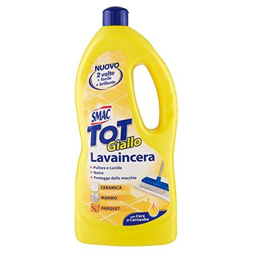 Smac - Tot Giallo Lavaincera, Detergente Pavimenti Pregiati in Ceramica, Marmo e Parquet, con Cera di Carnauba, 1000ml