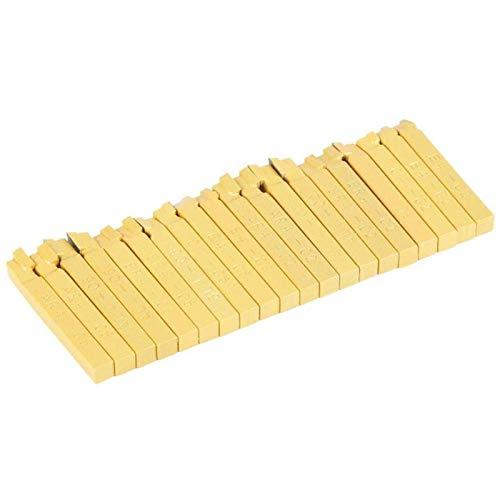 Herramienta de torneado, 20 piezas de herramientas de torno de 1/4'Juego de herramientas de torneado de corte y fresado de soldadura con punta de carburo, con brocas de grado C-2 y brocas de grado C-