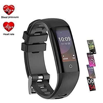 TEYO Fitness Tracker, Activity Tracker Watch with Heart Rate Blood Pressure Monitor (G16-B)