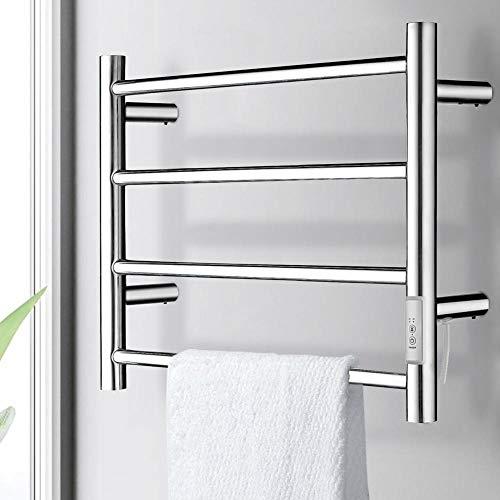 BAKAJI Toallero eléctrico de 40 W para baño, toallero de pared, toallero...