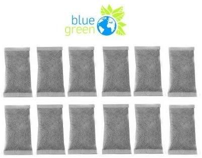 blue green Aktivkohlefilter (12er Pack) - Jahresvorrat