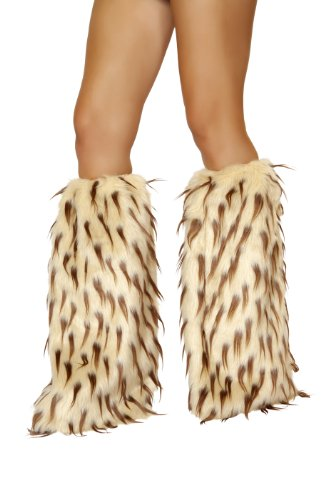 Roma Costume Women's Faux Fur Leg Warmer – Camel Brown, Camel/Brown, One Size