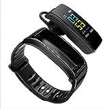 2-in-1 Smart Bracelet with Bluetooth Earphone (Black)
