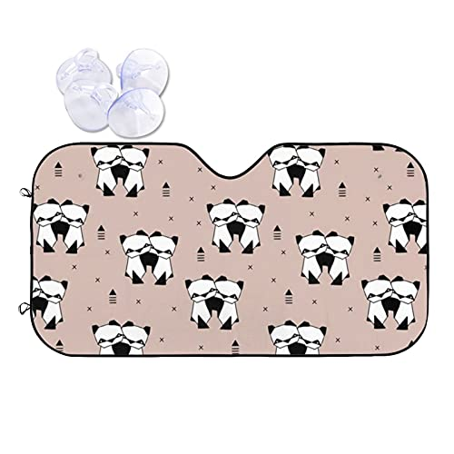 N\\A Car Windshield Sunshade Uv Protector Automotive Origami Animals Cute Panda Window Sunshades Fit for Cars, Suvs, Trucks Keeping Your Vehicle Cooler