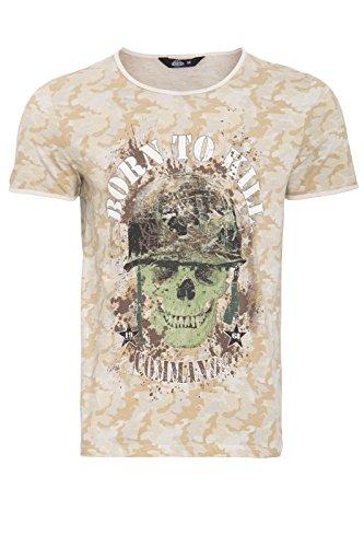King Kerosin Born To Kill T-shirt Homme - Beige ( Noyau ) -L
