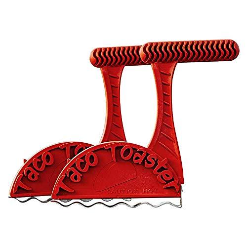 Tostadora de tacos, fabricante de conchas de tacos, para tortillas crujientes y saludables, herramienta para hacer conchas de tacos (2 piezas)