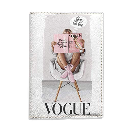 Fashion passport holder eco leather stylish cover for documents vogue design handmade