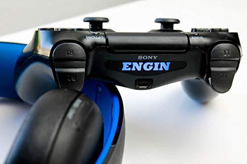 1x PS4 Controller Name LED Lightbar Decal Sticker mit Wunschtext abziehbar Individueller text Sticker Aufkleber Hergestellt in Deutschland