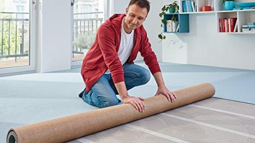 tesa Verlegeband extra stark klebend - Doppelseitiges Klebeband zum Verlegen von Teppich und PVC-Belag - doppelseitig klebend - 10 m x 50 mm