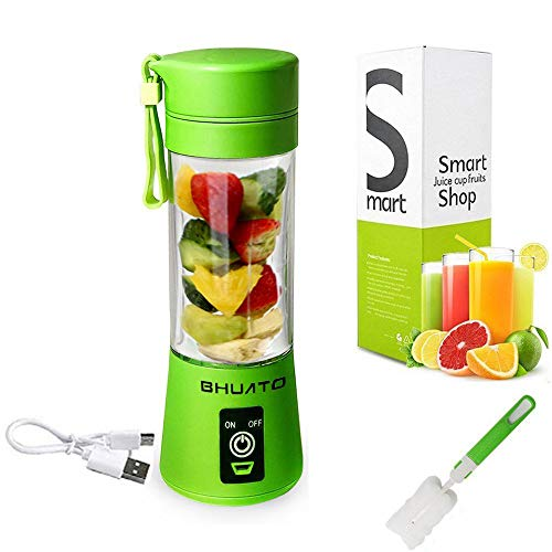 [Upgraded Version] USB Juicer Cup by Huatop, Portable Juice Blender, Household Fruit Mixer - Six Blades in 3D, 380ml Fruit Mixing Machine with USB Charger Cable for Superb Mixing