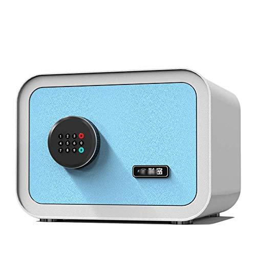 DBSCD Cassaforte Password Cassetta di Sicurezza, Mini-Ufficio Domestico nel Muro Cassaforte Piccola antifurto Cassaforte antifurto, Cassaforte Blu (Blu)