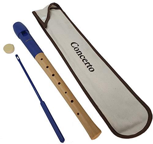 Flauta dulce escolar madera de arce Concerto 9585 soprano digitación alemana, incluye funda y accesorios - Rockmusic