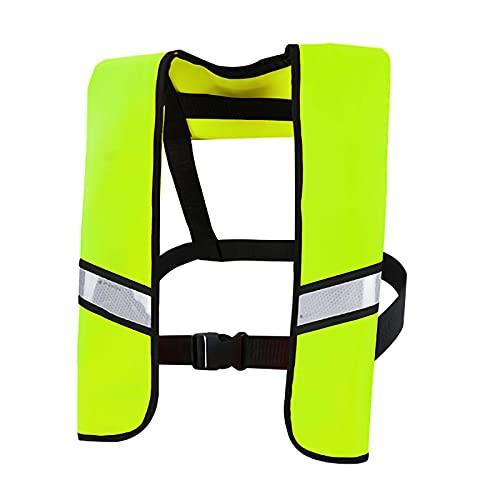 Chaleco Salvavidas, Chaleco Salvavidas Inflable Automático De Alta Flotabilidad con Silbato, Chaleco Salvavidas De Supervivencia para Deportes Acuáticos, Paseos En Bote
