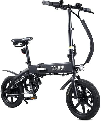 Fafrees Bicicleta Eléctrica, Bicicleta Eléctrica de 14 Pulgadas 250W 10Ah 36V 25km / h Batería Extraíble de Iones de Litio, Bicicleta Eléctrica Plegable Unisex