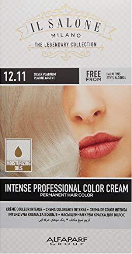 Il Salone Milano Permanent Hair Color Cream - 12.11 Silver Platinum Hair Dye - Professional Salon - Premium Quality - 100% Gray Coverage - Paraben Free - Ethyl Alcohol Free - Moisturizing Oils