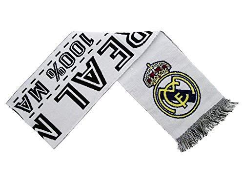 Real Madrid écharpe officielle couleur blanc/noir avec écuss