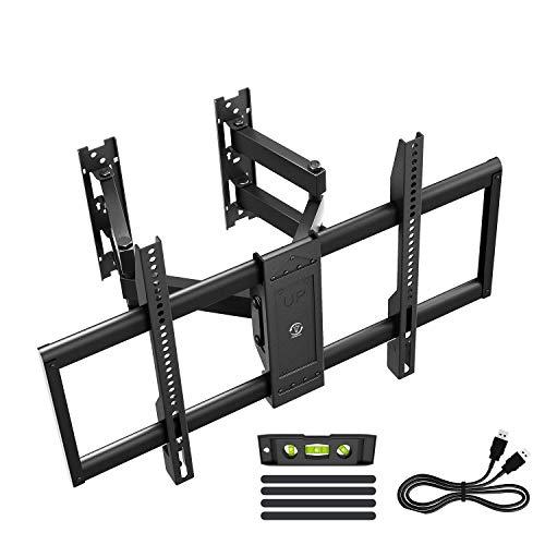 Famgizmo Soporte de Pared para TV 32-70 Pulgadas(81-178cm), Double Brazo, Inclinable y Giratorio, Máx Vesa 400x600mm, Carga 80KG (176lbs), para Televisores de Pantalla Plana(LED LCD Plasma 4K 3D)