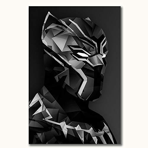 FOCLKEDS Avengers Infinity War Black Panther 3D dipinto poster per bagno 40,6 x 61 cm decorazione Art Chic ufficio arte (senza cornice)