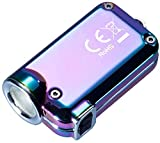 KSTORE Torcia LED 500 m Long Distance USB ricaricabile mini portachiavi luce regalo per borsa elettrica doppia LED portachiavi portachiavi portachiavi con USB Lant viola