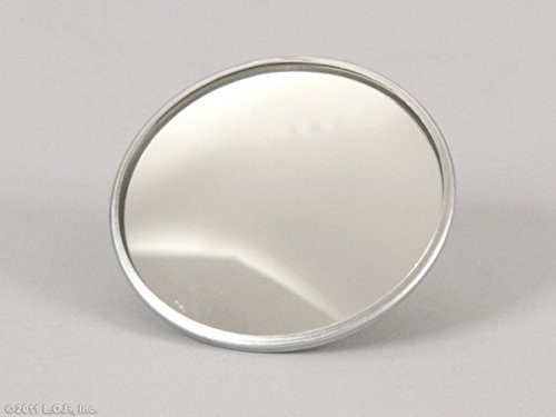 "Best In Auto 2"" Wide Angle Convex Blind Spot Round Stick-On Mirror Side View"