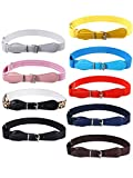 SATINIOR 9 Pieces Kids Adjustable Elastic Belt Kids Toddler Belts Pin Buckle Belts for Girls Kids (Color Set 1), 30-65 cm