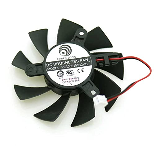 DC BRUSHLESS FAN PLA08015S12HH 12V 0.35A 75mm 42x42x42mm XFX HD5670 HD6770 HD6750 Graphics Card Cooling Fan 2Wire