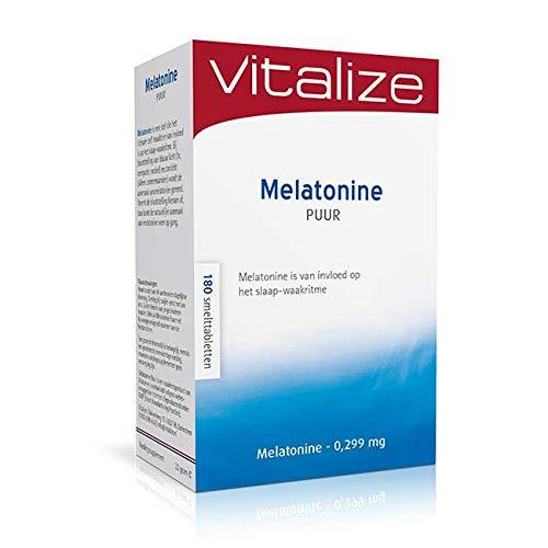 Vitalize Melatonine Puur 0,299 mg 180 tabletten - Speelt een rol bij een goede nachtrust