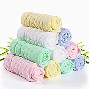 Baby Waschlappen, Baby Musselin Waschlappen, für Babys empfindliche Haut, 10er Bio-Natur Badetuch Baumwolle, Weiche Baby Gesichtstücher, Tolles Duschgeschenk 30 * 30 CM