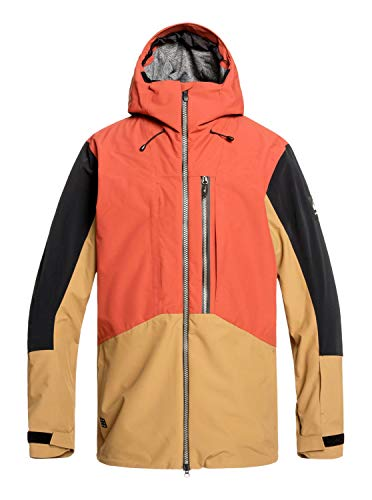 QUIKSILVER Mens Travis Rice Stretch - Snow Jacket Snow Jacket Red L