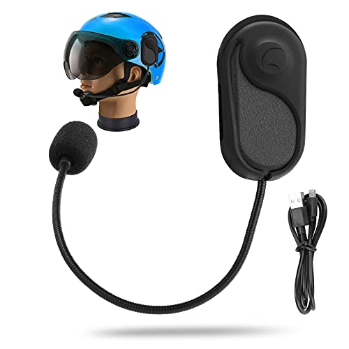 GUJIN Motorradhelm Bluetooth 5.0 Headset, Wasserdicht Helm Kabellos Bluetooth Kopfhörer mit Mikrofon, für Motorradfahren, Skifahren und Klettern(Freisprecheinrichtung/automatische Antwort/GPS)