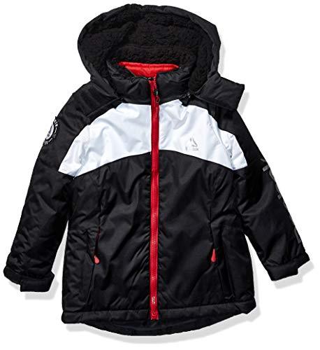 Reebok Girls' Toddler Softshell Jacket, Ski System Black pop, 4T