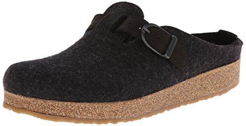 HAFLINGER Unisex GZB Wool Clogs Charcoal 42EU