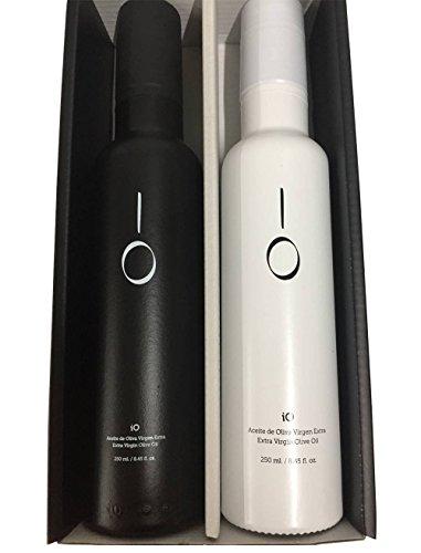 Caja con aceites selección gourmet iO Blanco y aceite iO Negro para...