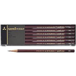 三菱鉛筆 鉛筆 ユニスター HB 1ダース USHB