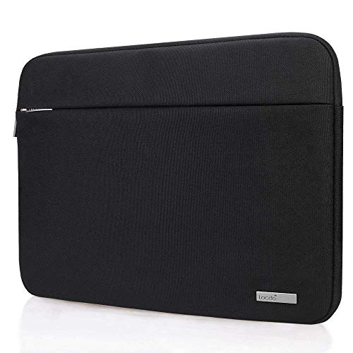 Lacdo 15.6 Inch Laptop Sleeve Computer Case for 15.6' Acer Aspire/Predator, Asus TUF FX505DT, Lenovo Ideapad 330, Dell Inspiron, ASUS ZenBook/VivoBook, HP Pavilion Chromebook Notebook Bag, Black