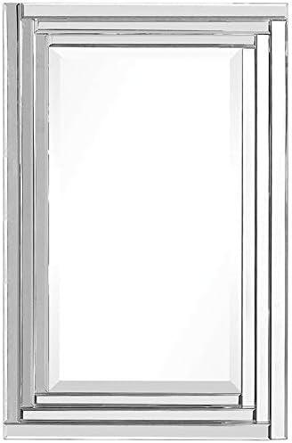"""wholesale Uttermost outlet online sale 08027 22 34-Inch Alanna Vanity Mirror, 34.0"""" L x 22.0"""" W x 2.0"""" lowest D, Silver outlet online sale"""
