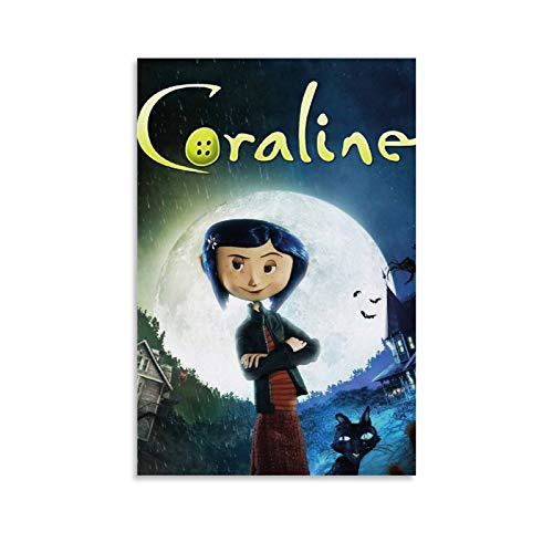 ZPQM Cartoon Movie Coraline & The Secret Door Poster Decorative Painting Canvas Wall Art Living Room Posters Bedroom Painting 08x12inch(20x30cm)