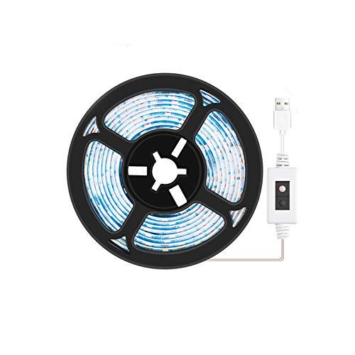 0.5m 1m 2m 3m Phyto Grow Light Strip LED Flower Spectrum Flow Lámpara Planta USB Impermeable Hidropónicos Plántulas Luz (Color : No Waterproof, Emitting Color : 1M 60leds)