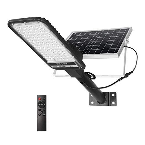 100W Solar Street Lights Outdoor, NIORSUN LED Security Flood Light Motion Sensor Dusk to Dawn IP67 Waterproof with Remote Control for Garden, Basketball Court, Garage, Parking Lot