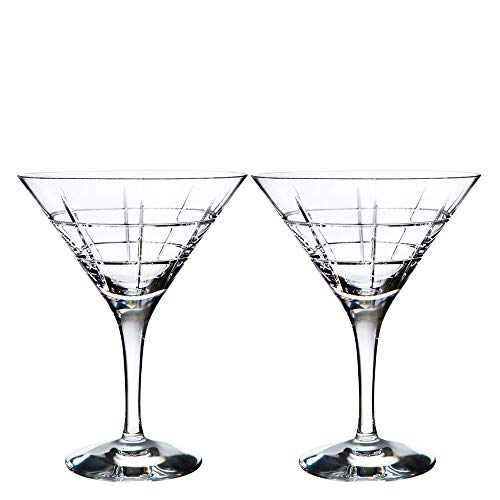 Orrefors Street Martini, Set of 2-Clear