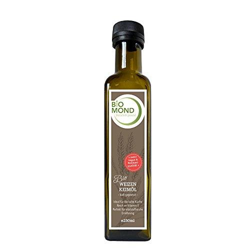 Bio Weizenkeimöl BIOMOND 250 ml / Gourmetöl / tagesfrisch kalt gepresst / nativ / vegan /...
